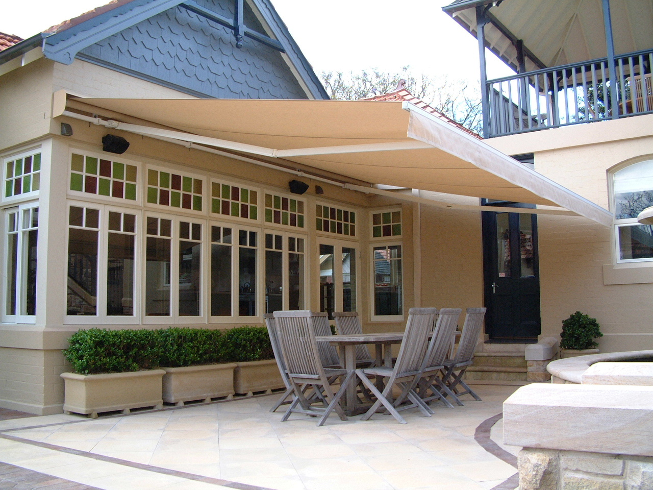 Folding Arm Retractable Awnings Accent Blinds