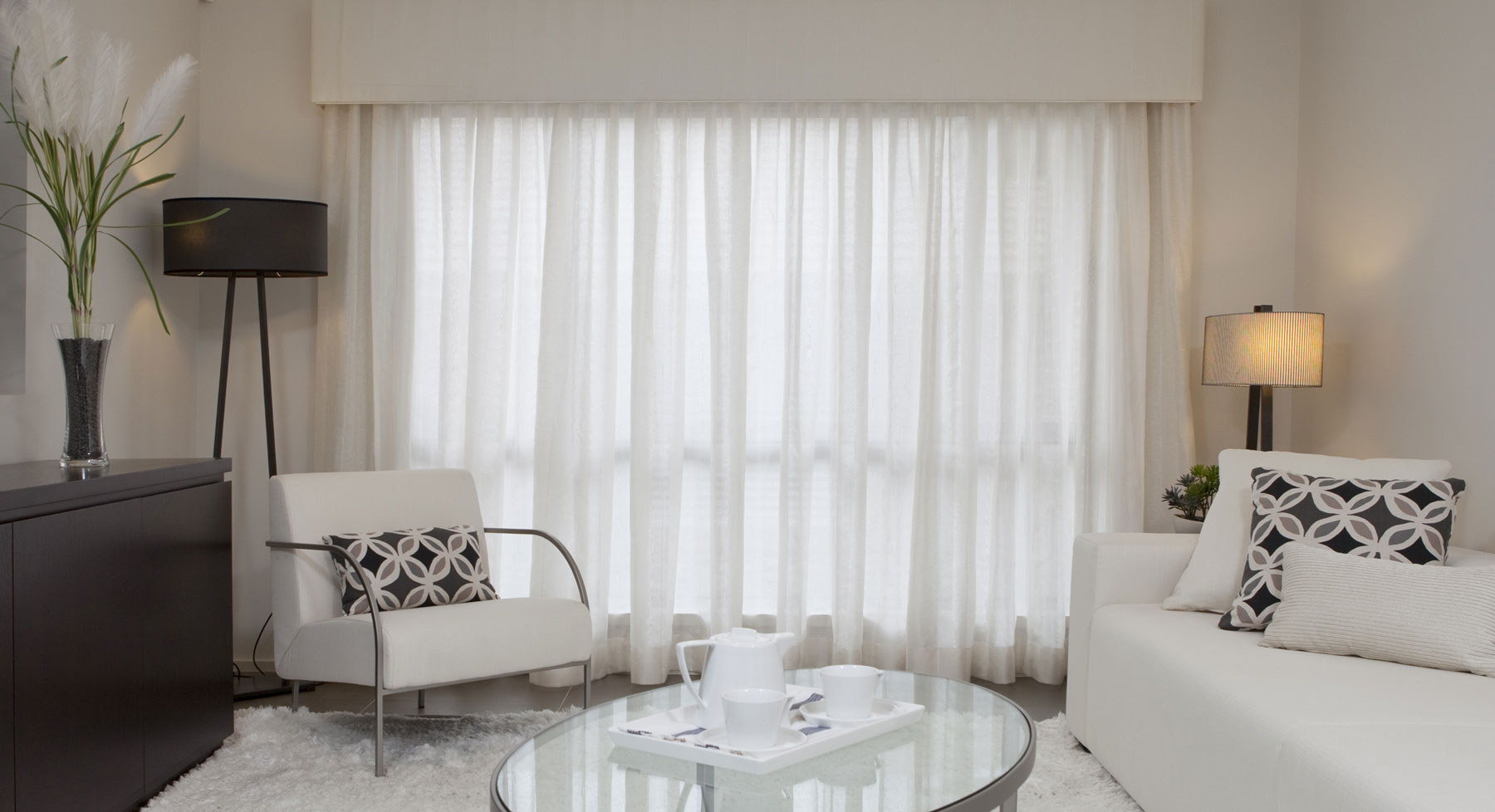 Sheer Curtains Accent Blinds